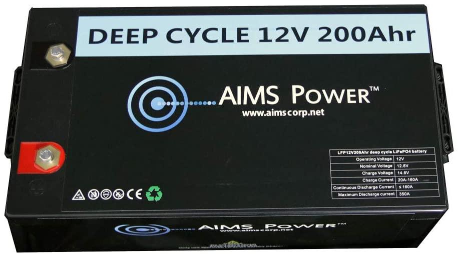 AIMS 12V 100Ah LiFePO4 Lithium Battery