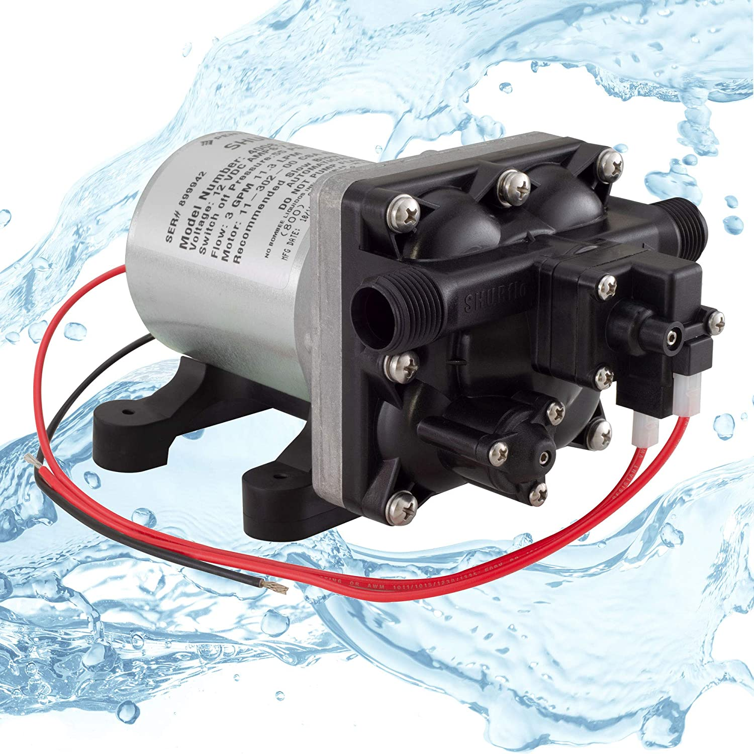Shurflo 4008-101-A65 RV Water Pump