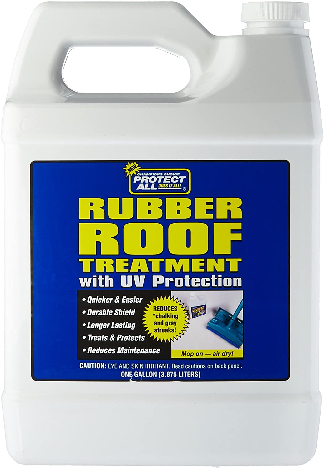 RV Rubber Roof Treatment - 1 gallon - anti-static, dirt repelling, and UV protectant