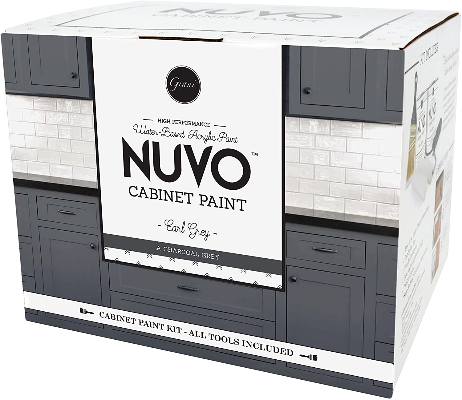 Nuvo Earl One Cabinet Makeover Kit, Charcoal Grey