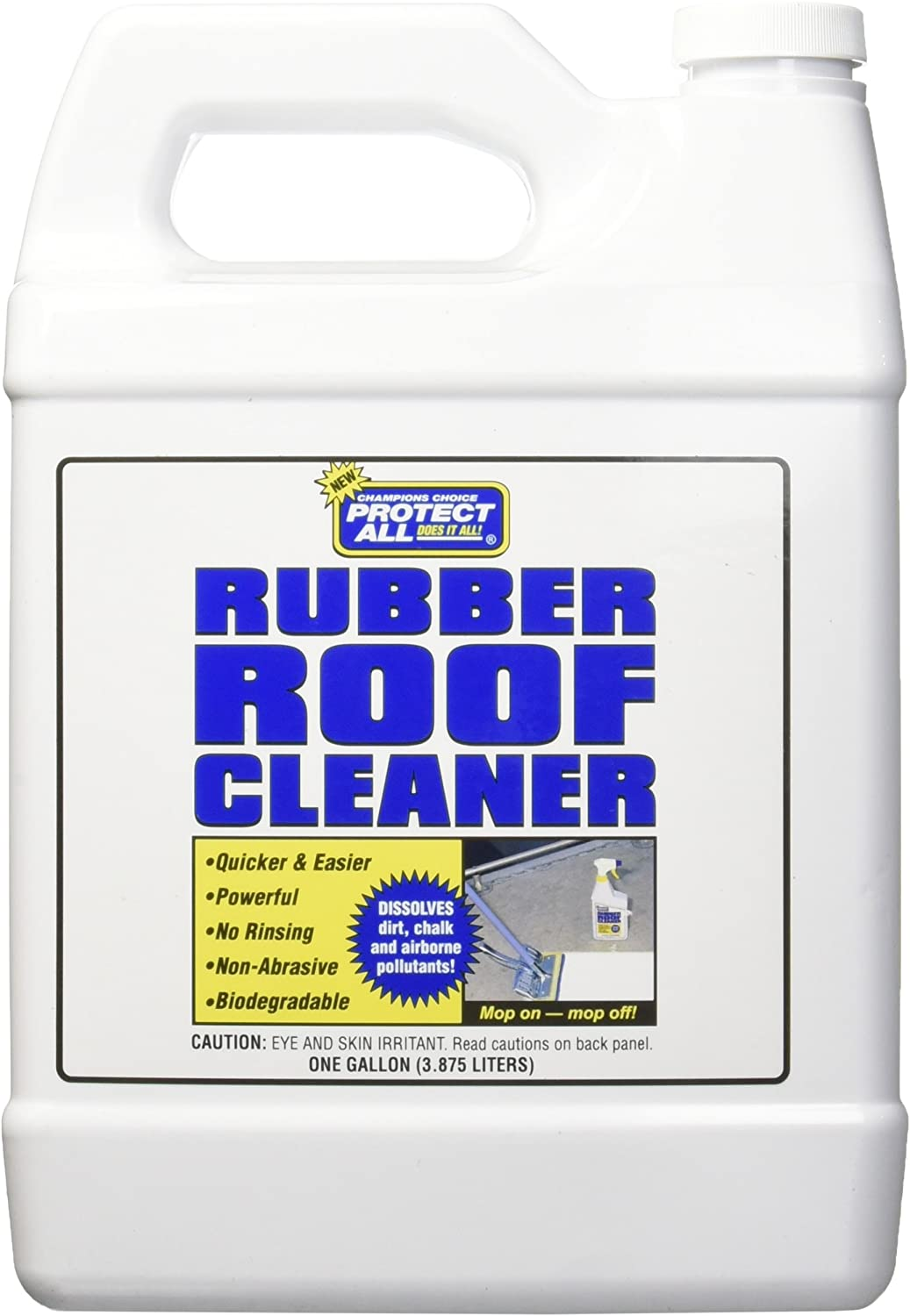 RV Rubber Roof Cleaner - Non-Toxic, Non-Abrasive RV roof detergent 1 Gallon